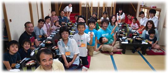 2014-07-13 親子ゲーム会:食事前の記念写真