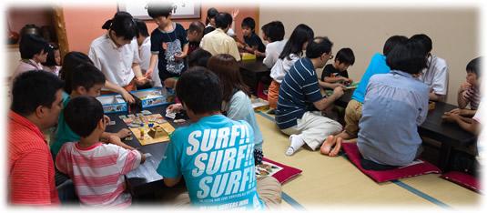 2014-07-13 親子ゲーム会:遊戯中全景2