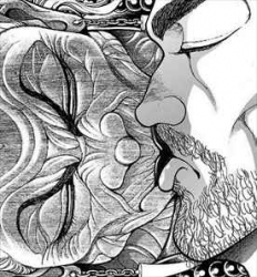 刃牙道2巻徳川姉と宮本武蔵の接吻1