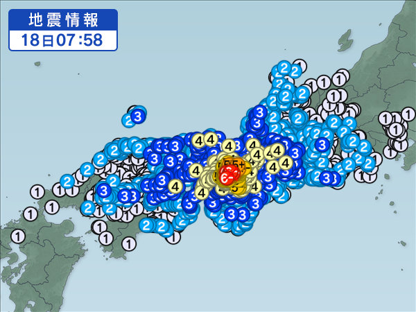 日本人さん、大阪地震があったのにもう通常運転wwwwwwwww