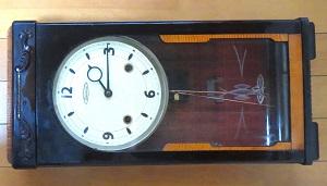 振子時計が壊れました。
